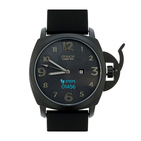 Itouch Connected Unisex Adult Black Leather Smart Watch-50050b-51-G02