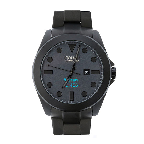 Itouch Connected Unisex Adult Black Smart Watch-50117b-51-G02