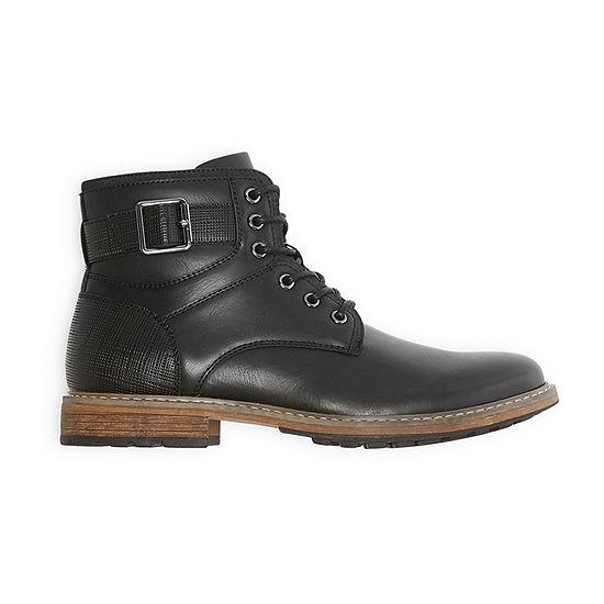 JF J.Ferrar Mens Lagoon Flat Heel Lace Up Boots