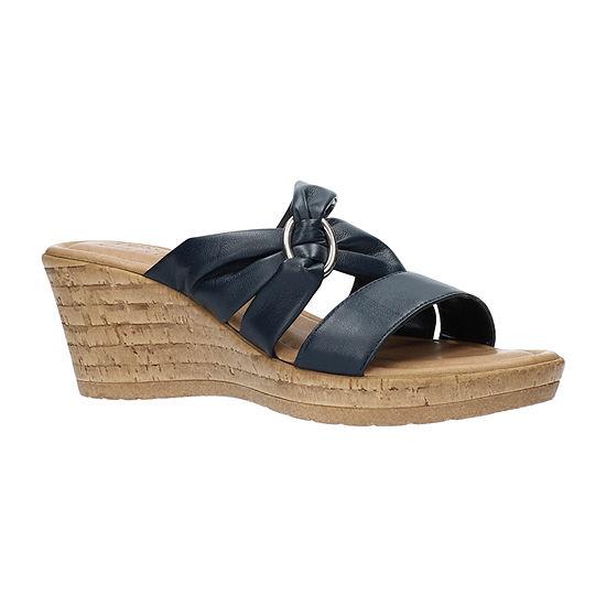 Easy Street Womens Guiliana Wedge Sandals