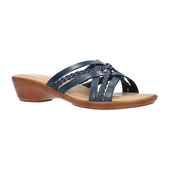 Easy Street Womens Ricarda Wedge Sandals