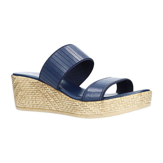 Easy Street Womens Terina Wedge Sandals