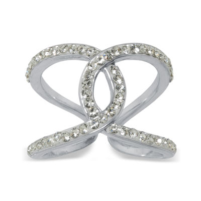 Sparkle Allure Crystal Overlapping Cocktail Ring