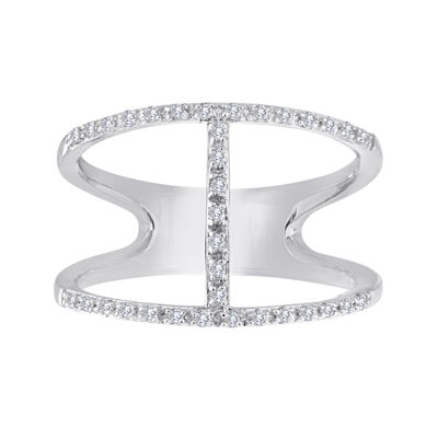1/7 CT. T.W. Diamond Sterling Silver Open-Design Ring