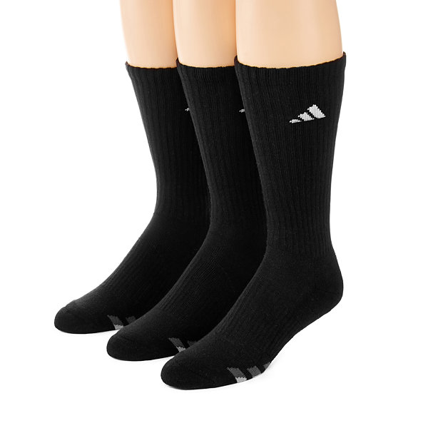 adidas® 3-pk. Mens Athletic Cushioned Crew Socks - Extended Size