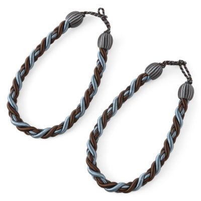 Set of 2 Fancy Rope Tiebacks