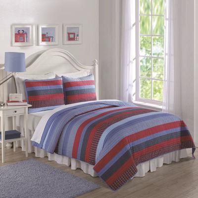 Laura Hart Kids Blue Sebas Stripe Quilt Set