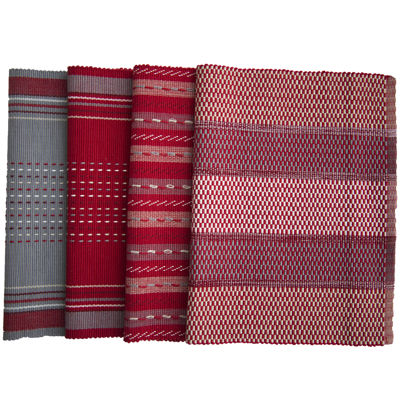Mix and Match Set of 4 Red Placemats