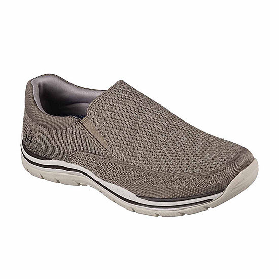 Men Skechers Canvas Taupe Loafers