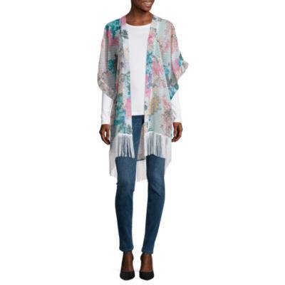 Mixit Floral Swiss Dot Kimono Wrap