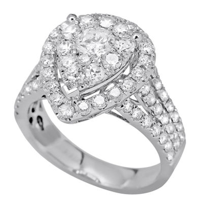 LIMITED QUANTITIES! 2 CT. T.W. Round White Diamond 14K Gold Engagement Ring