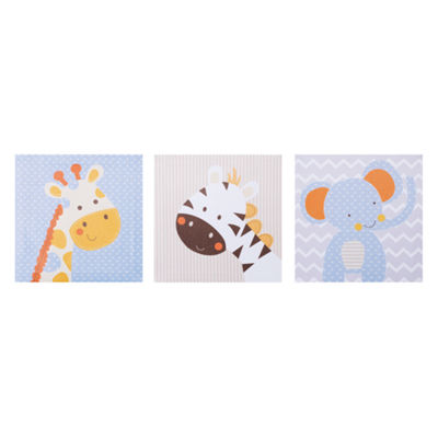 Trend Lab Jungle Fun Canvas Wall Art 3 Pack