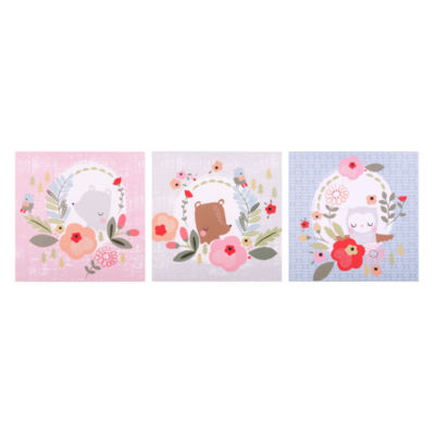 Trend Lab My Little Friends Canvas Wall Art 3 Pack