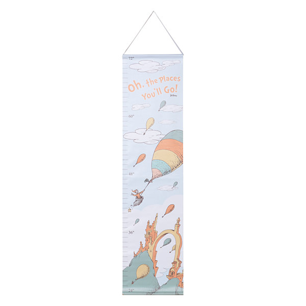 Trend Lab Oh The Places You'Ll Go Canvas Growth Chart