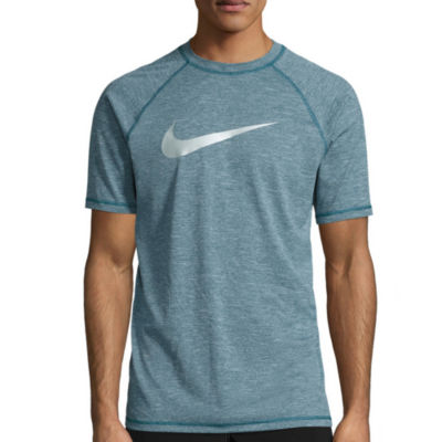 Nike Solid Heather Short Sleeve Swim Tee 40+ UPF Protection