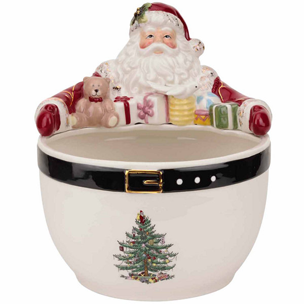 Spode Christmas Tree Santa Nut Serving Bowl
