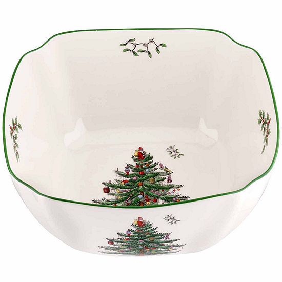 spode christmas tree 10 serving bowl