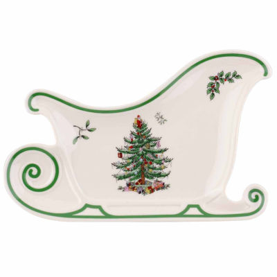 """Spode Christmas Tree Sleigh 13.5"""" Platter"""