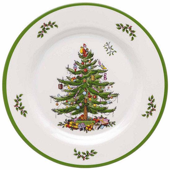 Spode Christmas Plates.Spode Christmas Tree 4 Pc Dinner Plates Set