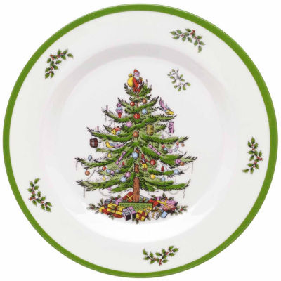 Spode Christmas Tree 4-pc. Salad Dessert Plates Set