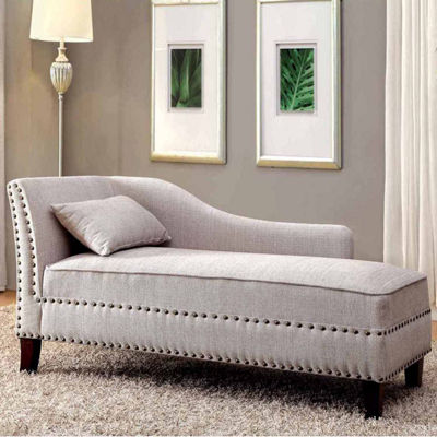 Reyon Contemporary Fabric Chaise Lounge