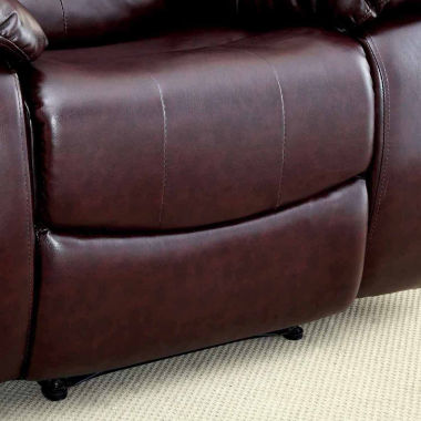 Reaufort Transitional Faux Leather Club Chair