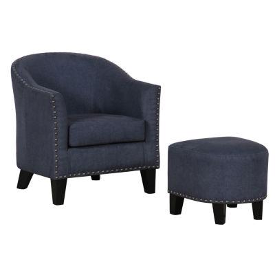 Home Meridian Chair + Ottoman Set