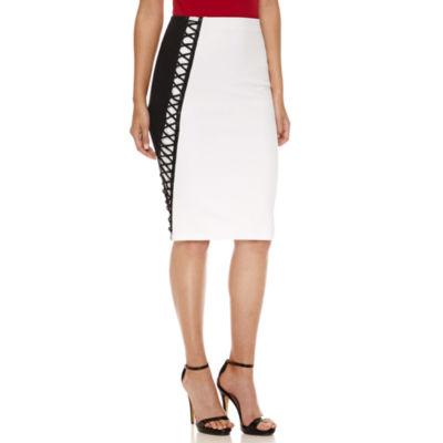 Bisou Bisou Color Block Pencil Skirt