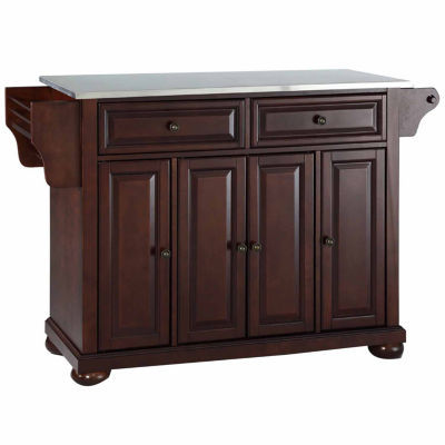 Caldwell Stainless Steel Top-Kitchen Island