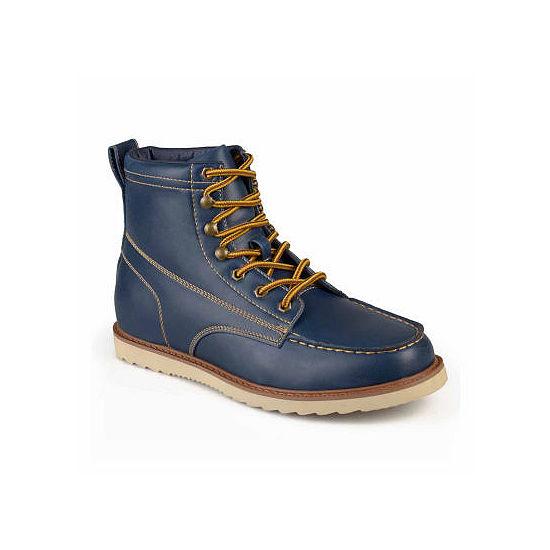 Vance Co Mens Wyatt Work Boots Flat Heel