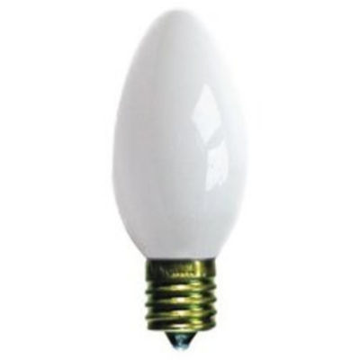 Pack of 4 Opaque Ceramic White C9 Christmas Replacement Bulbs