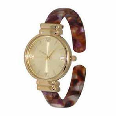 Olivia Pratt Elegant Womens Pink Strap Watch-17536pinkcream