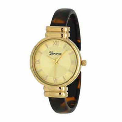 Olivia Pratt Elegant Womens Brown Strap Watch-17536tortoise
