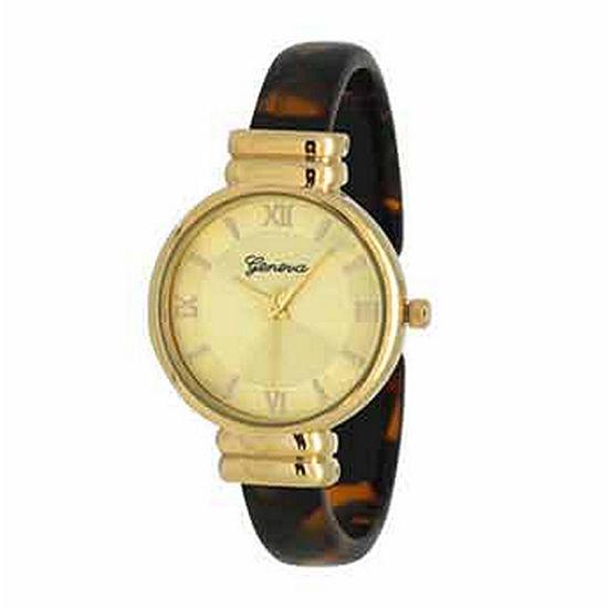 Olivia Pratt Elegant Womens Brown Strap Watch-17536tortoise