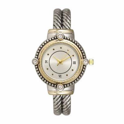 Olivia Pratt Womens Two Tone Strap Watch-15791twotone