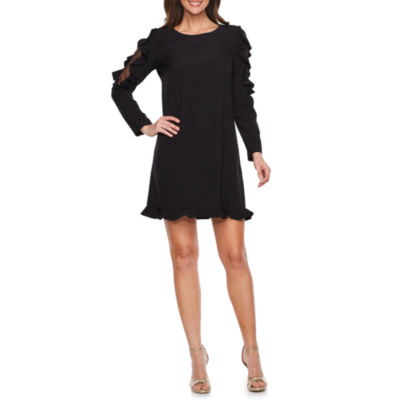 Nicole By Nicole Miller Lace Long Sleeve Sheath Dress