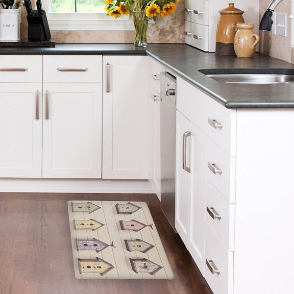 Laura Ashley Birdhouse Anti-Fatigue Gelness Kitchen Mat
