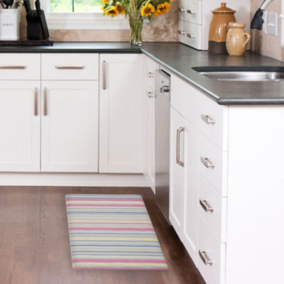Laura Ashley Lollies Washed Stripe Anti-Fatigue Gelness Kitchen Mat