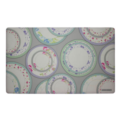 Laura Ashley Tea Plates Anti-Fatigue Gelness Kitchen Mat