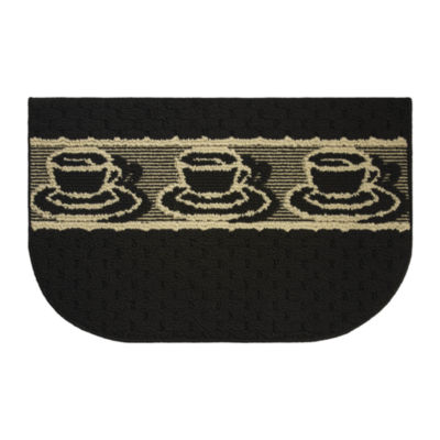 Structures Afternoon Coffee Textured Loop Wedge Kitchen Mat