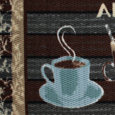 Structures Artisan Coffee Textured Loop Kitchen Mat