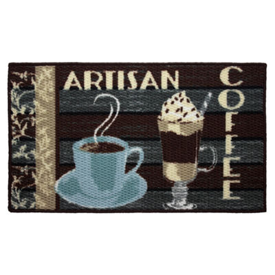 Structures Artisan Coffee Textured Loop Oblong Kitchen Mat