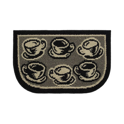 Structures Bed & Breakfast Coffee Textured Loop Wedge Kitchen Mat
