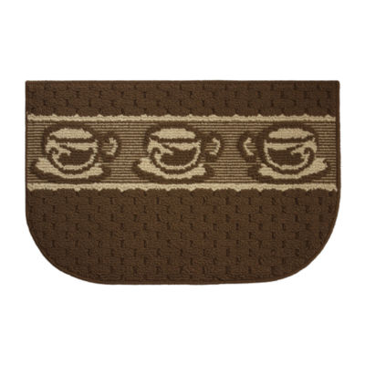 Structures Coffee Goodness Textured Loop Wedge Kitchen Mat