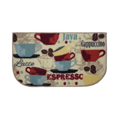 Structures Coffee Textured Loop Wedge Kitchen Mat