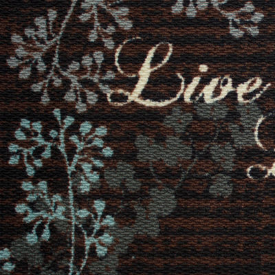 Structures Live Laugh Love Textured Loop Kitchen Mat
