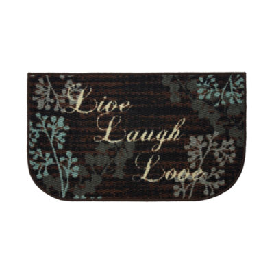 Structures Live Laugh Love Textured Loop Wedge Kitchen Mat