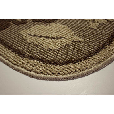 Structures Livingston Leaves Textured Loop Wedge Kitchen Mat