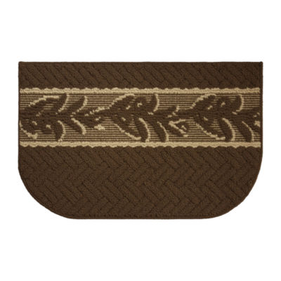 Structures Olive Branch Textured Loop Wedge Kitchen Mat