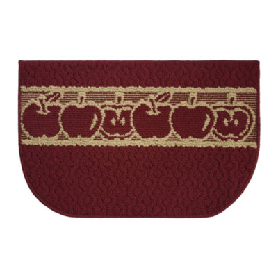 Structures Sunnyside Apples Textured Loop Wedge Kitchen Mat